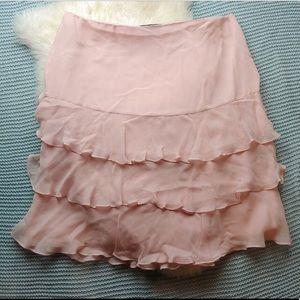 Lauren Ralph Lauren Pink Silk Ruffle Skirt